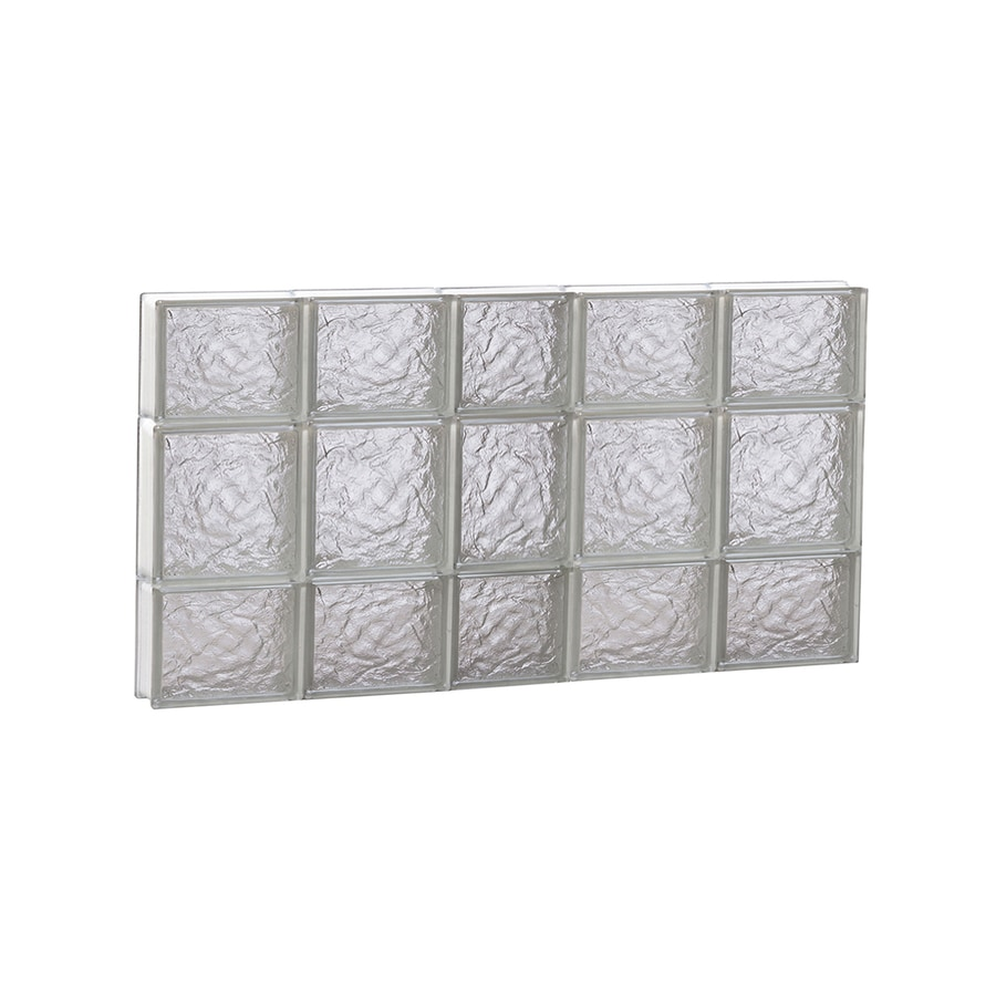 REDI2SET Ice Glass Pattern Frameless Replacement Block Window (Rough Opening: 38-in x 20-in; Actual: 36.75-in x 19.25-in)