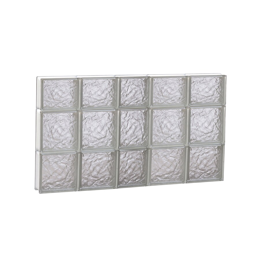 REDI2SET Ice Glass Pattern Frameless Replacement Glass Block Window (Rough Opening: 38-in x 22-in; Actual: 36.7500-in x 21.2500-in)
