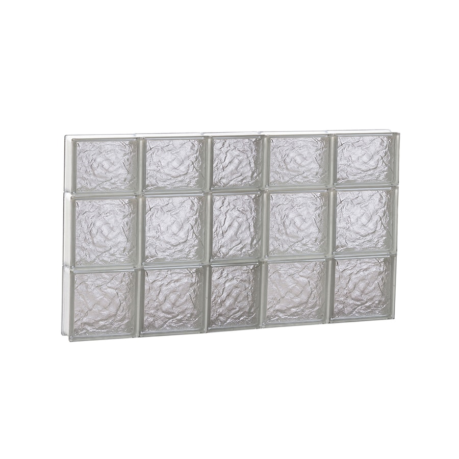 REDI2SET Ice Glass Pattern Frameless Replacement Block Window (Rough Opening: 38-in x 22-in; Actual: 36.75-in x 21.25-in)