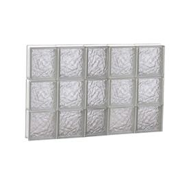 Redi2set Ice Gl Pattern Frameless Replacement Clear Block Window Rough Opening 38