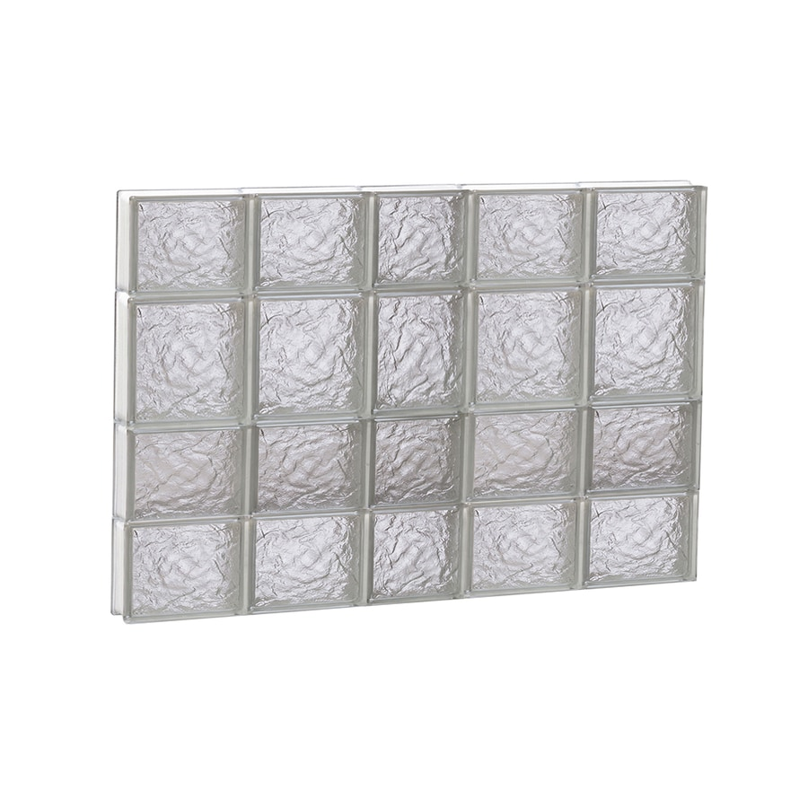REDI2SET Ice Glass Pattern Frameless Replacement Block Window (Rough Opening: 38-in x 26-in; Actual: 36.75-in x 25-in)