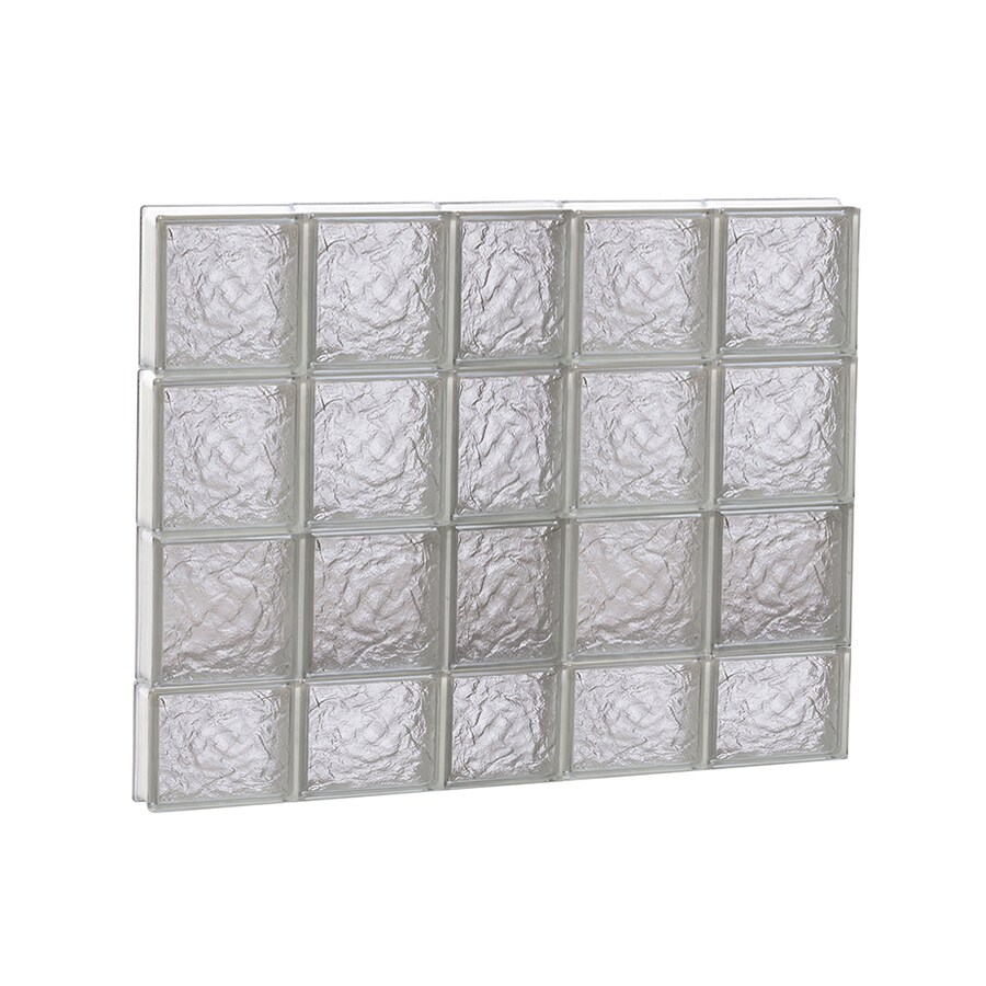 REDI2SET Ice Glass Pattern Frameless Replacement Block Window (Rough Opening: 38-in x 30-in; Actual: 36.75-in x 29-in)