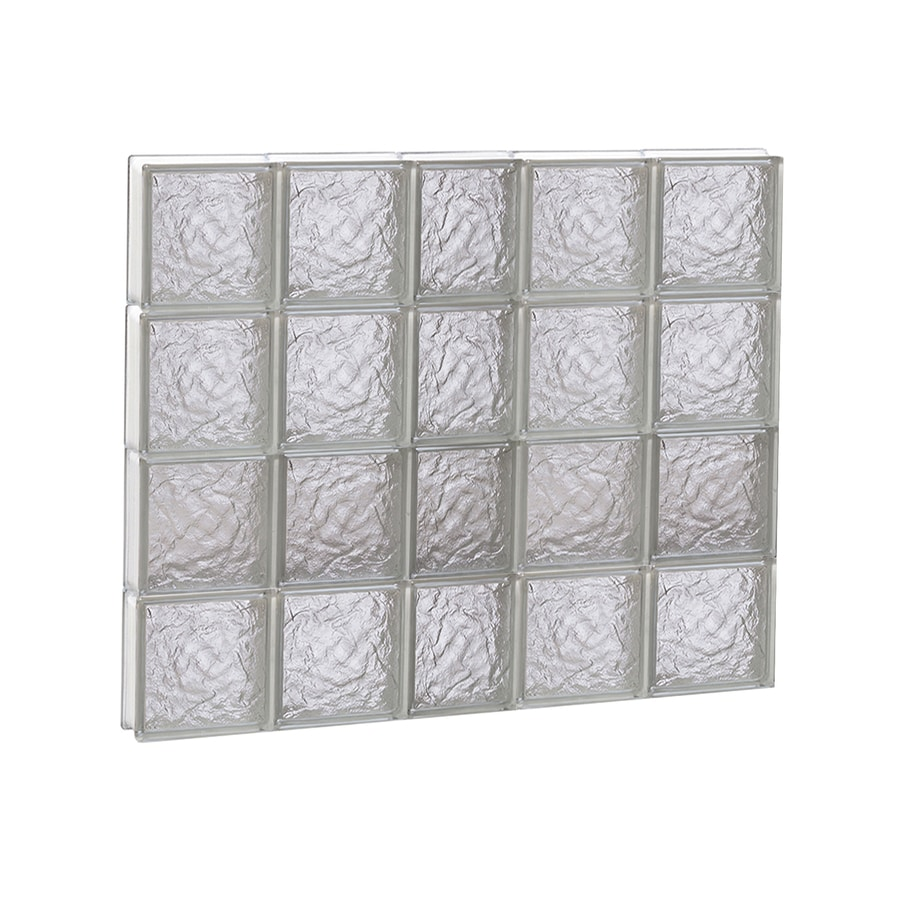 REDI2SET Ice Glass Pattern Frameless Replacement Block Window (Rough Opening: 38-in x 32-in; Actual: 36.75-in x 31-in)