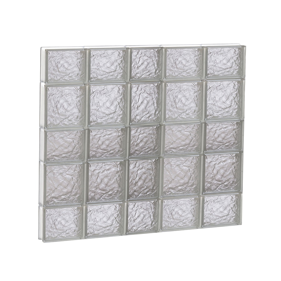 REDI2SET Ice Glass Pattern Frameless Replacement Glass Block Window (Rough Opening: 38-in x 34-in; Actual: 36.7500-in x 32.7500-in)