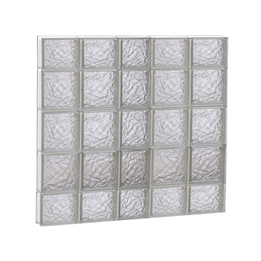 REDI2SET Ice Glass Pattern Frameless Replacement Block Window (Rough Opening: 38-in x 36-in; Actual: 36.75-in x 34.75-in)