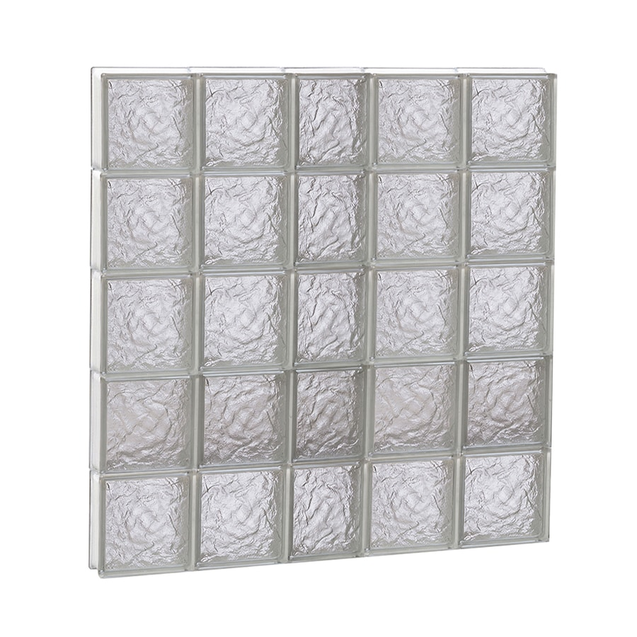 REDI2SET Ice Glass Pattern Frameless Replacement Block Window (Rough Opening: 38-in x 40-in; Actual: 36.75-in x 38.75-in)