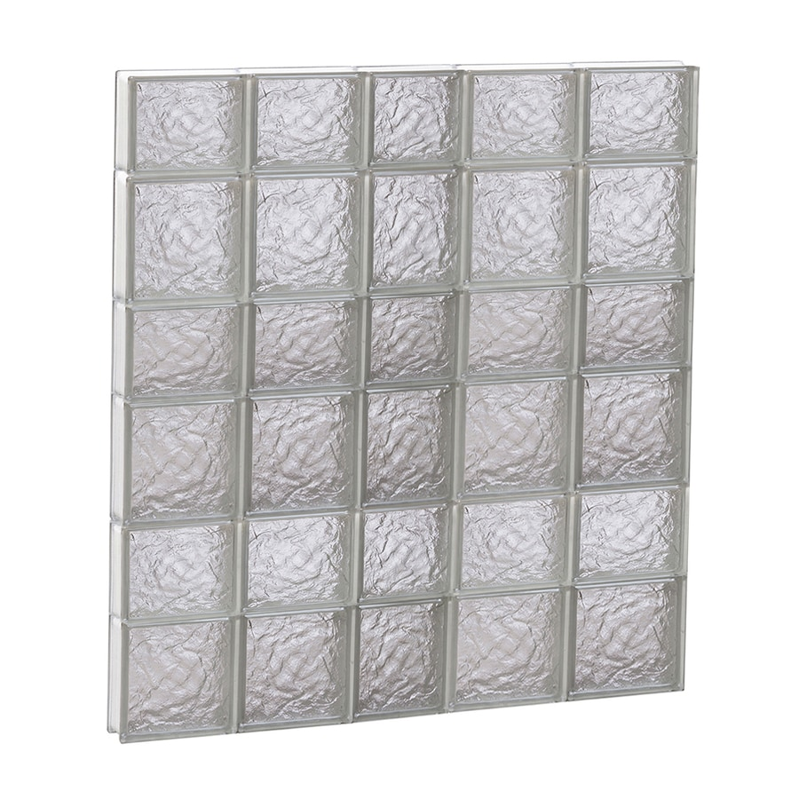 REDI2SET Ice Glass Pattern Frameless Replacement Block Window (Rough Opening: 38-in x 42-in; Actual: 36.75-in x 40.5-in)
