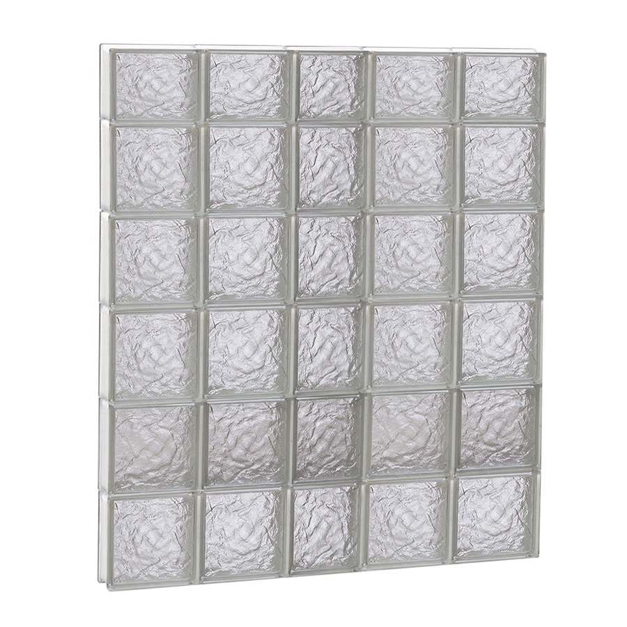 REDI2SET Ice Glass Pattern Frameless Replacement Block Window (Rough Opening: 38-in x 46-in; Actual: 36.75-in x 44.5-in)