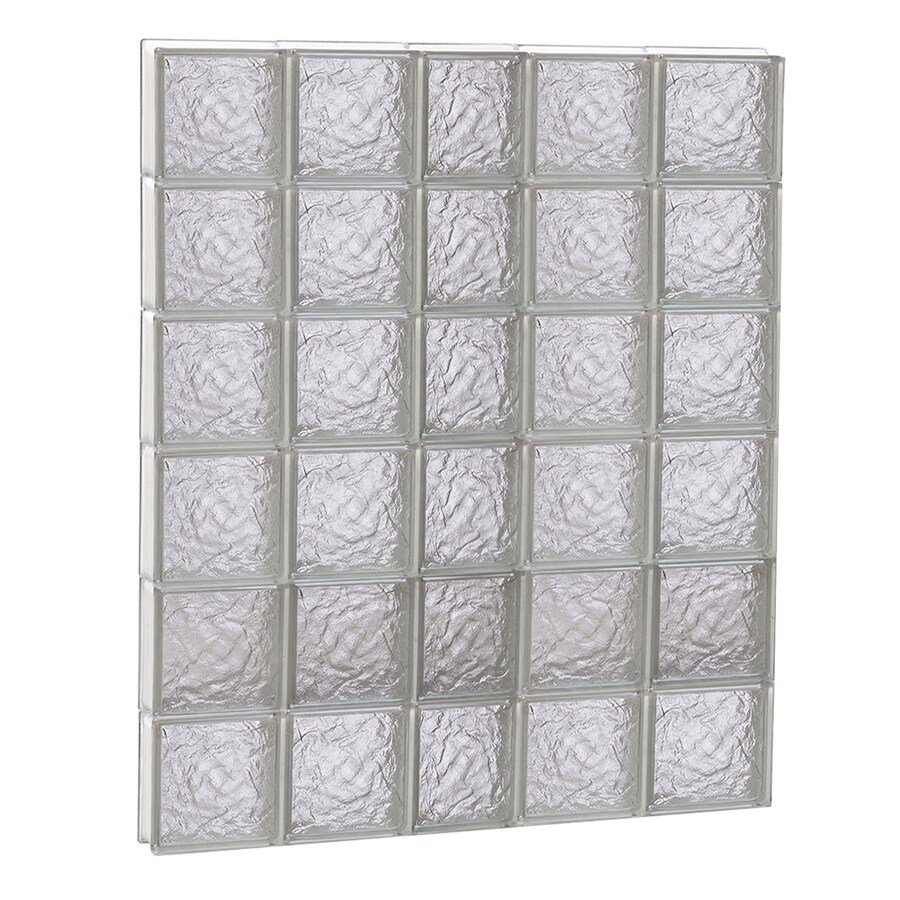 REDI2SET Ice Glass Pattern Frameless Replacement Block Window (Rough Opening: 38-in x 48-in; Actual: 36.75-in x 46.5-in)