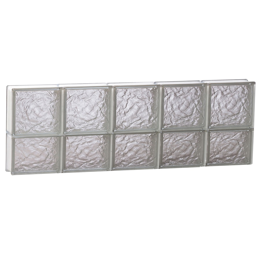 REDI2SET Ice Glass Pattern Frameless Replacement Block Window (Rough Opening: 40-in x 14-in; Actual: 38.75-in x 13.5-in)