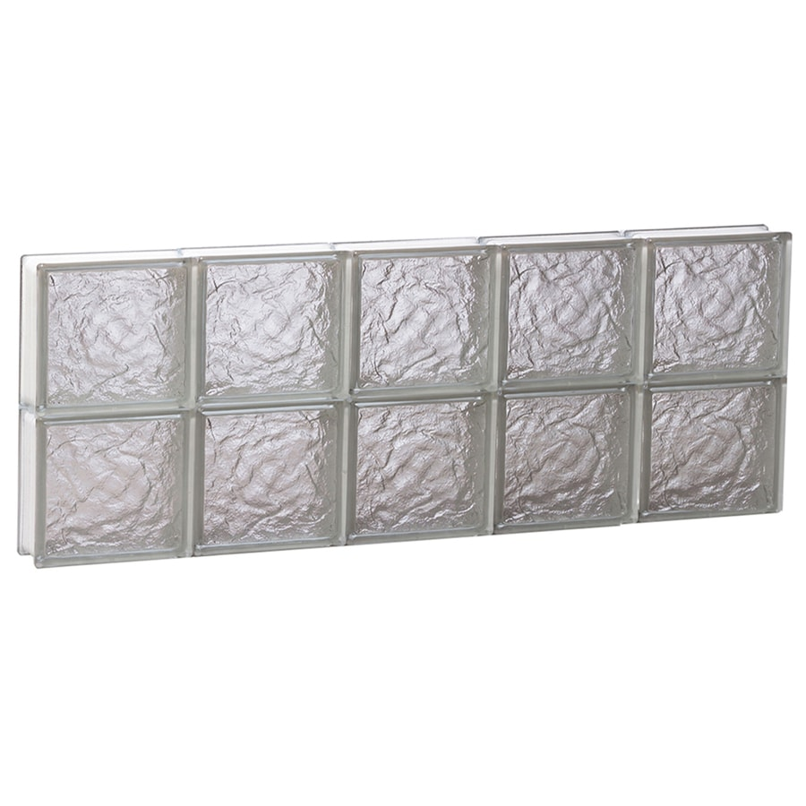 REDI2SET Ice Glass Pattern Frameless Replacement Block Window (Rough Opening: 40-in x 16-in; Actual: 38.75-in x 15.5-in)