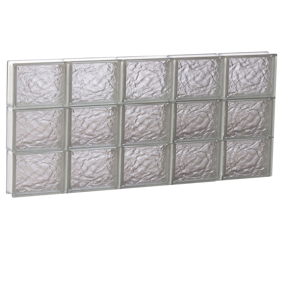 REDI2SET Ice Glass Pattern Frameless Replacement Block Window (Rough Opening: 40-in x 18-in; Actual: 38.75-in x 17.25-in)