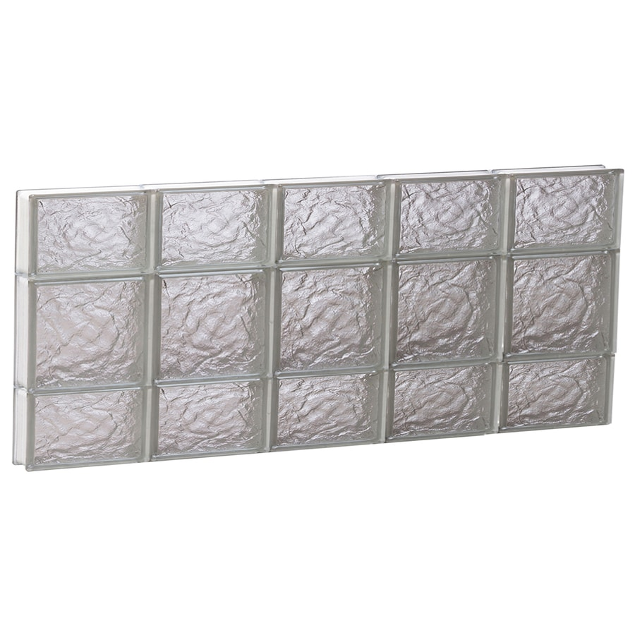 REDI2SET Ice Glass Pattern Frameless Replacement Block Window (Rough Opening: 40-in x 20-in; Actual: 38.75-in x 19.25-in)