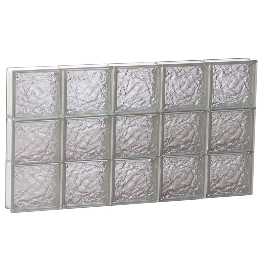 REDI2SET Ice Glass Pattern Frameless Replacement Block Window (Rough Opening: 40-in x 24-in; Actual: 38.75-in x 23.25-in)