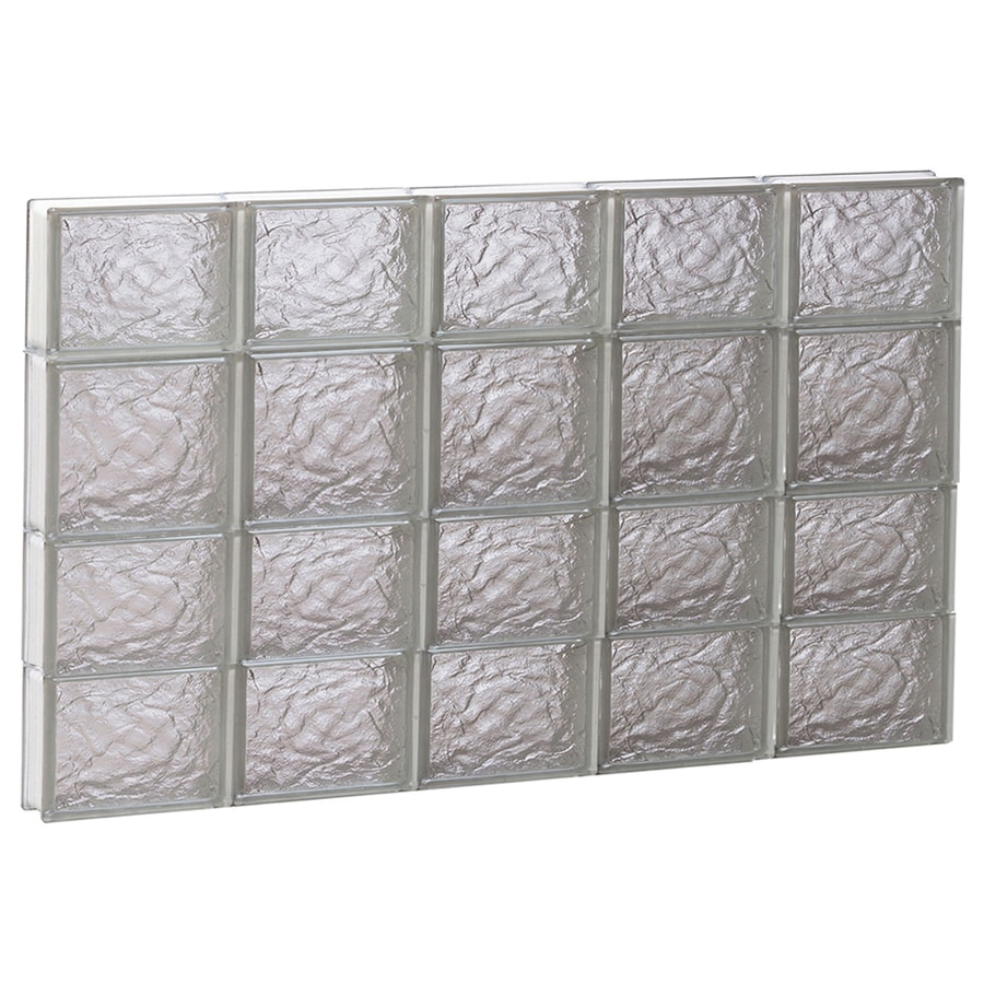 REDI2SET Ice Glass Pattern Frameless Replacement Glass Block Window (Rough Opening: 40-in x 26-in; Actual: 38.75-in x 25-in)
