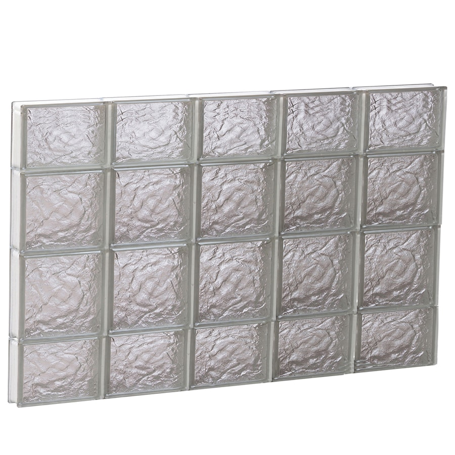 REDI2SET Ice Glass Pattern Frameless Replacement Glass Block Window (Rough Opening: 40-in x 28-in; Actual: 38.7500-in x 27-in)