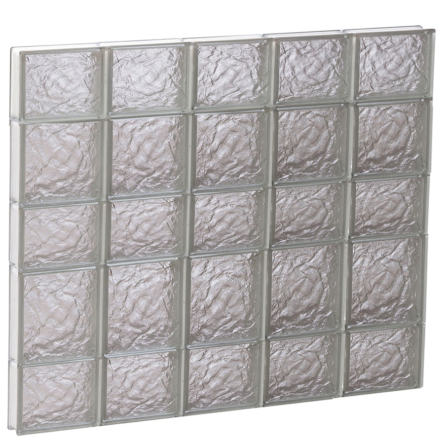 REDI2SET Ice Glass Pattern Frameless Replacement Block Window (Rough Opening: 40-in x 34-in; Actual: 38.75-in x 32.75-in)