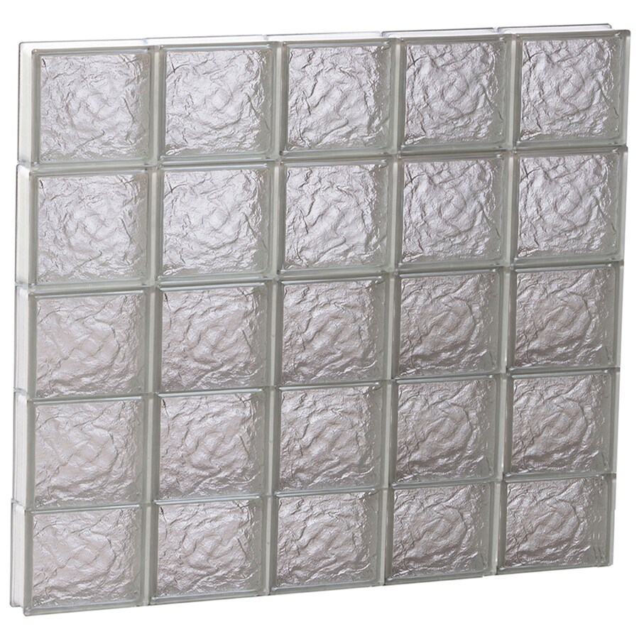 REDI2SET Ice Glass Pattern Frameless Replacement Block Window (Rough Opening: 40-in x 38-in; Actual: 38.75-in x 36.75-in)