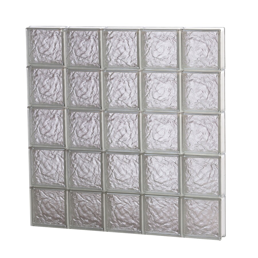 REDI2SET Ice Glass Pattern Frameless Replacement Block Window (Rough Opening: 40-in x 40-in; Actual: 38.75-in x 38.75-in)