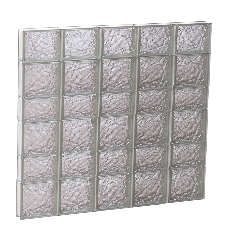 REDI2SET Ice Pattern Frameless Replacement Glass Block Window (Rough Opening: 40-in x 42-in; Actual: 38.75-in x 40.5-in)