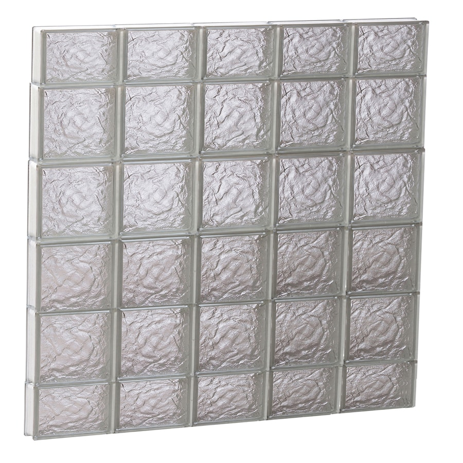REDI2SET Ice Glass Pattern Frameless Replacement Block Window (Rough Opening: 40-in x 44-in; Actual: 38.75-in x 42.5-in)