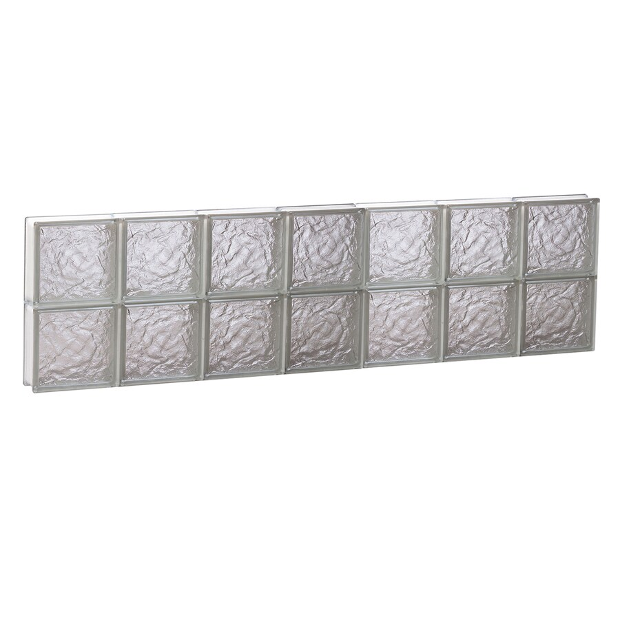 REDI2SET Ice Glass Pattern Frameless Replacement Block Window (Rough Opening: 42-in x 12-in; Actual: 40.25-in x 11.5-in)