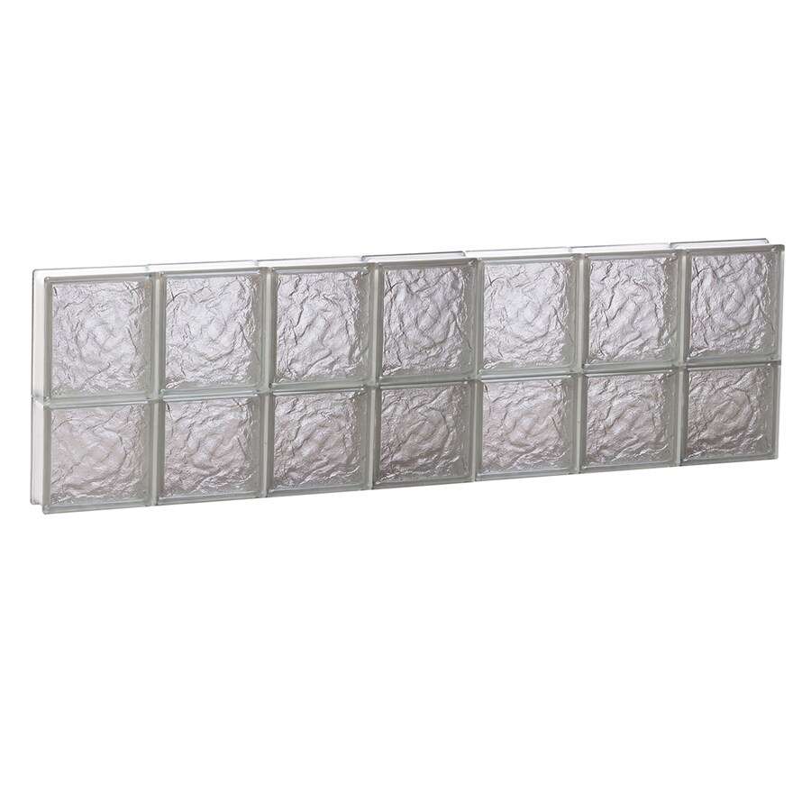 REDI2SET Ice Glass Pattern Frameless Replacement Glass Block Window (Rough Opening: 42-in x 14-in; Actual: 40.2500-in x 13.5000-in)