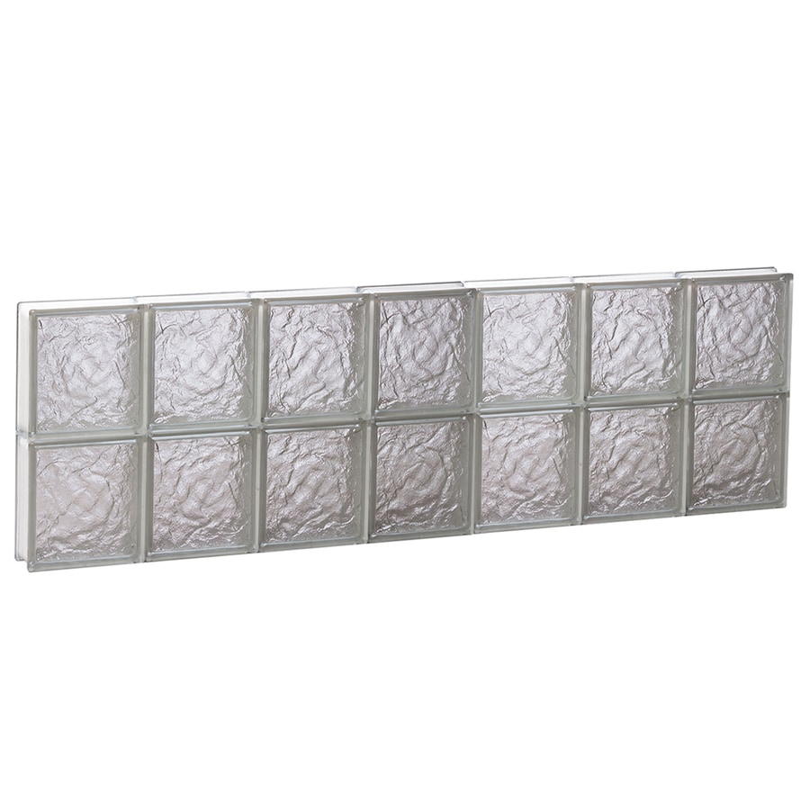 REDI2SET Ice Pattern Frameless Replacement Glass Block Window (Rough Opening: 42-in x 16-in; Actual: 40.25-in x 15.5-in)