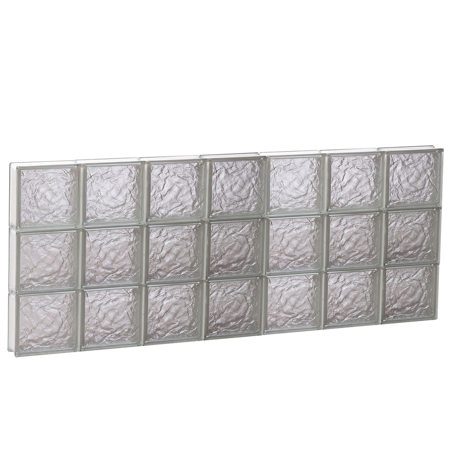 REDI2SET Ice Glass Pattern Frameless Replacement Block Window (Rough Opening: 42-in x 18-in; Actual: 40.25-in x 17.25-in)
