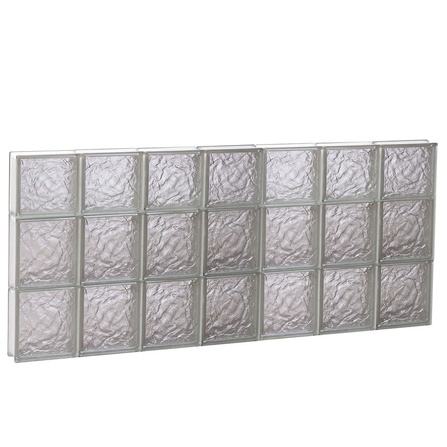 REDI2SET Ice Glass Pattern Frameless Replacement Glass Block Window (Rough Opening: 42-in x 22-in; Actual: 40.25-in x 21.25-in)