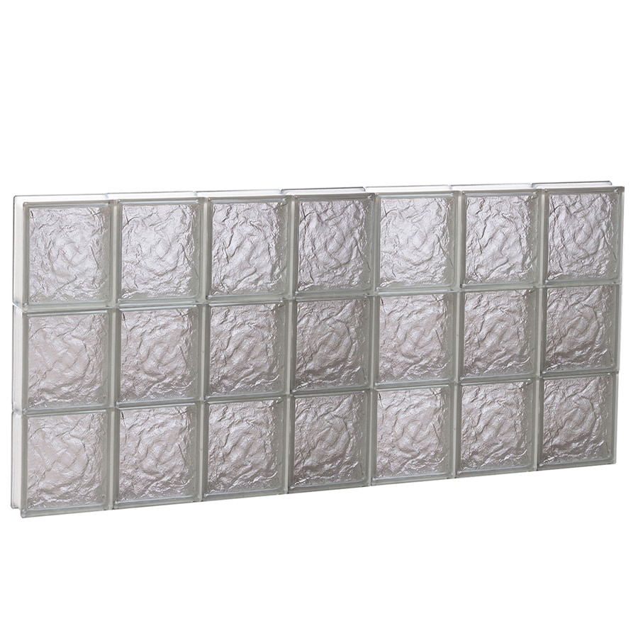 REDI2SET Ice Glass Pattern Frameless Replacement Block Window (Rough Opening: 42-in x 24-in; Actual: 40.25-in x 23.25-in)