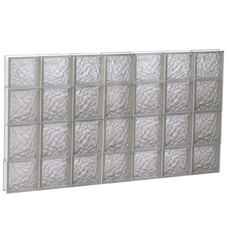 REDI2SET Ice Pattern Frameless Replacement Glass Block Window (Rough Opening: 42-in x 28-in; Actual: 40.25-in x 27-in)