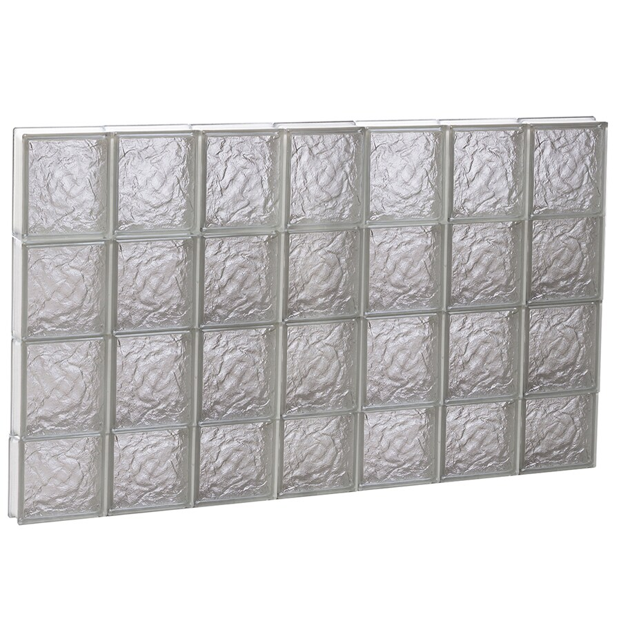 REDI2SET Ice Glass Pattern Frameless Replacement Block Window (Rough Opening: 42-in x 30-in; Actual: 40.25-in x 29-in)