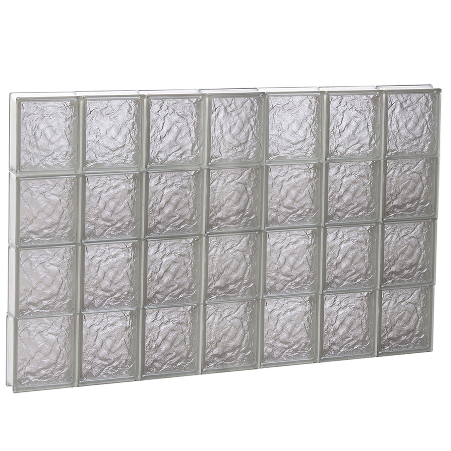 REDI2SET Ice Glass Pattern Frameless Replacement Block Window (Rough Opening: 42-in x 32-in; Actual: 40.25-in x 31-in)