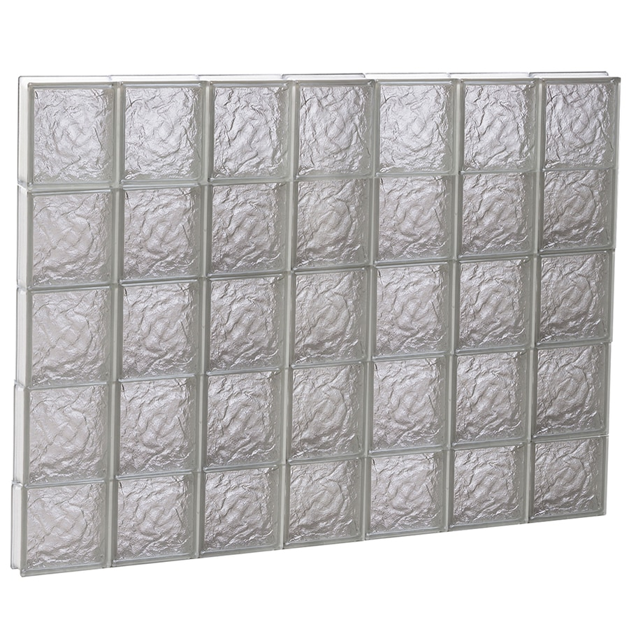REDI2SET Ice Glass Pattern Frameless Replacement Glass Block Window (Rough Opening: 42-in x 38-in; Actual: 40.25-in x 36.75-in)