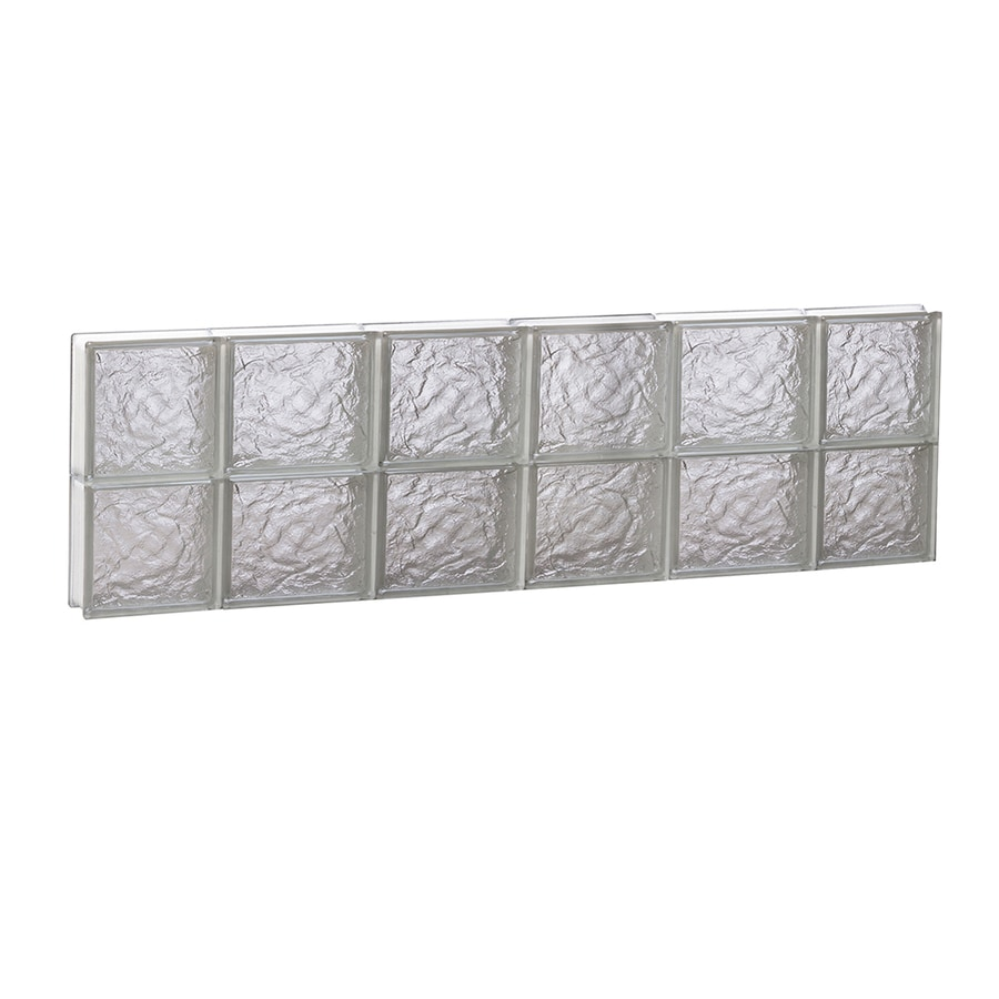 REDI2SET Ice Pattern Frameless Replacement Glass Block Window (Rough Opening: 44-in x 12-in; Actual: 42.5-in x 11.5-in)