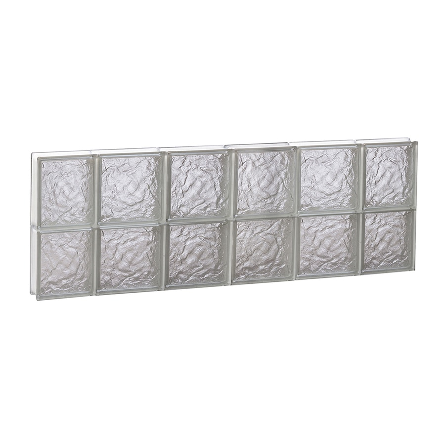 REDI2SET Ice Pattern Frameless Replacement Glass Block Window (Rough Opening: 44-in x 16-in; Actual: 42.5-in x 15.5-in)