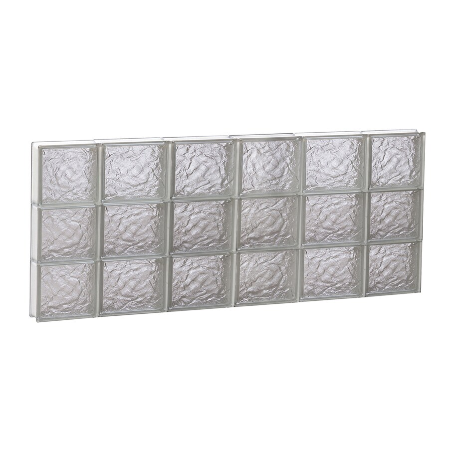REDI2SET Ice Pattern Frameless Replacement Glass Block Window (Rough Opening: 44-in x 18-in; Actual: 42.5-in x 17.25-in)