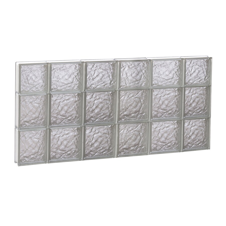 REDI2SET Ice Glass Pattern Frameless Replacement Block Window (Rough Opening: 44-in x 22-in; Actual: 42.5-in x 21.25-in)