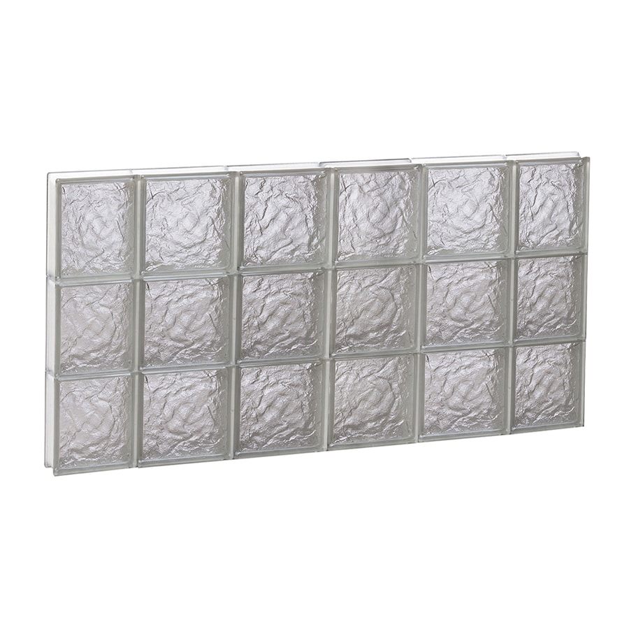 REDI2SET Ice Pattern Frameless Replacement Glass Block Window (Rough Opening: 44-in x 24-in; Actual: 42.5-in x 23.25-in)