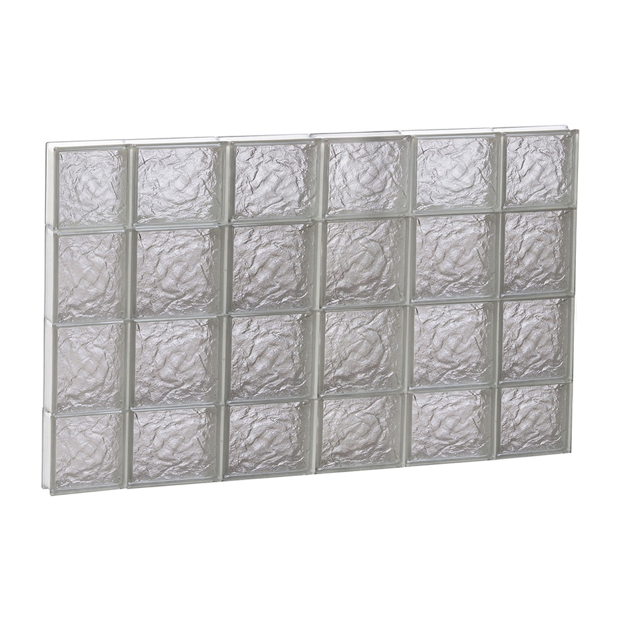 REDI2SET Ice Glass Pattern Frameless Replacement Block Window (Rough Opening: 44-in x 28-in; Actual: 42.5-in x 27-in)