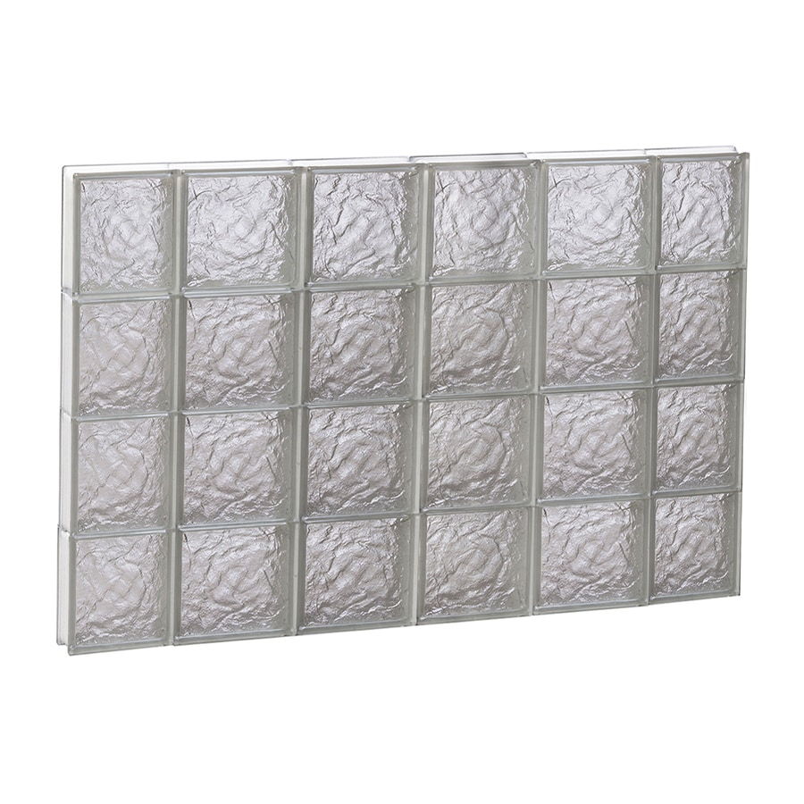 REDI2SET Ice Glass Pattern Frameless Replacement Block Window (Rough Opening: 44-in x 32-in; Actual: 42.5-in x 31-in)