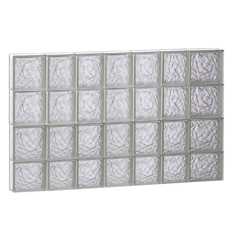 REDI2SET Ice Glass Pattern Frameless Replacement Block Window (Rough Opening: 46-in x 30-in; Actual: 44.25-in x 29-in)