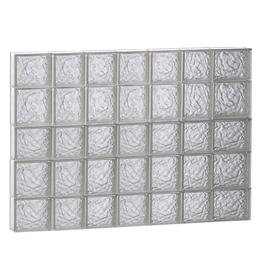 REDI2SET Ice Glass Pattern Frameless Replacement Block Window (Rough Opening: 46-in x 34-in; Actual: 44.25-in x 32.75-in)