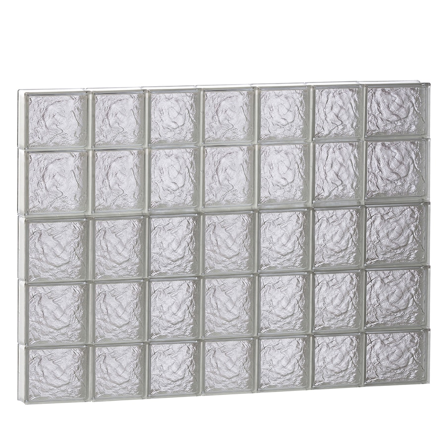 REDI2SET Ice Glass Pattern Frameless Replacement Glass Block Window (Rough Opening: 46-in x 36-in; Actual: 44.25-in x 34.75-in)