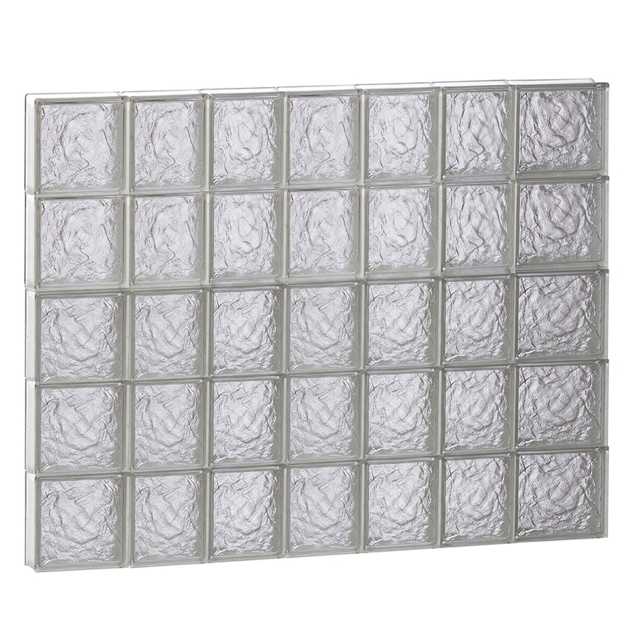 REDI2SET Ice Glass Pattern Frameless Replacement Block Window (Rough Opening: 46-in x 40-in; Actual: 44.25-in x 38.75-in)