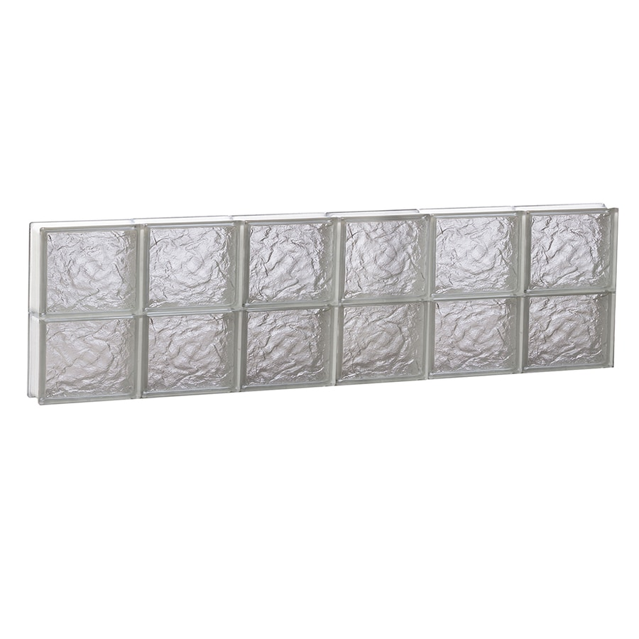 REDI2SET Ice Pattern Frameless Replacement Glass Block Window (Rough Opening: 48-in x 12-in; Actual: 46.5-in x 11.5-in)