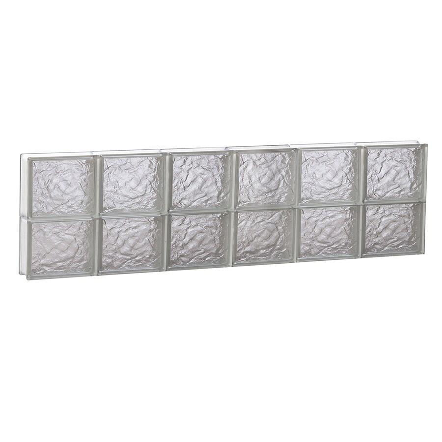REDI2SET Ice Glass Pattern Frameless Replacement Block Window (Rough Opening: 48-in x 12-in; Actual: 46.5-in x 11.5-in)