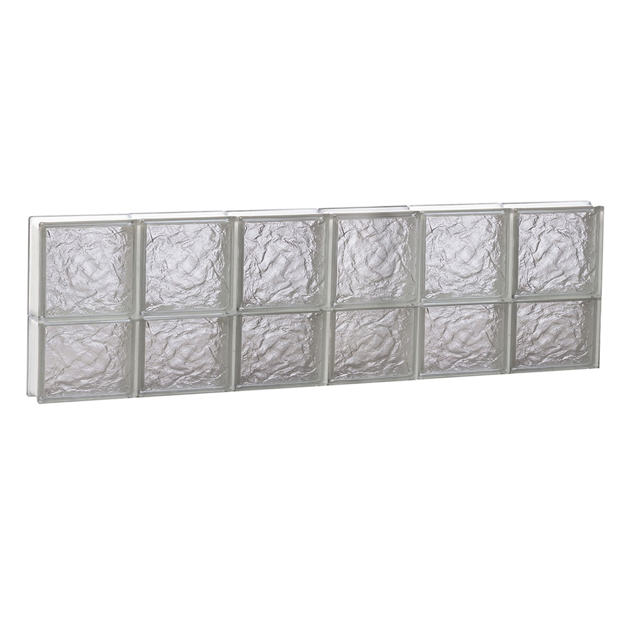 REDI2SET Ice Glass Pattern Frameless Replacement Block Window (Rough Opening: 48-in x 14-in; Actual: 46.5-in x 13.5-in)