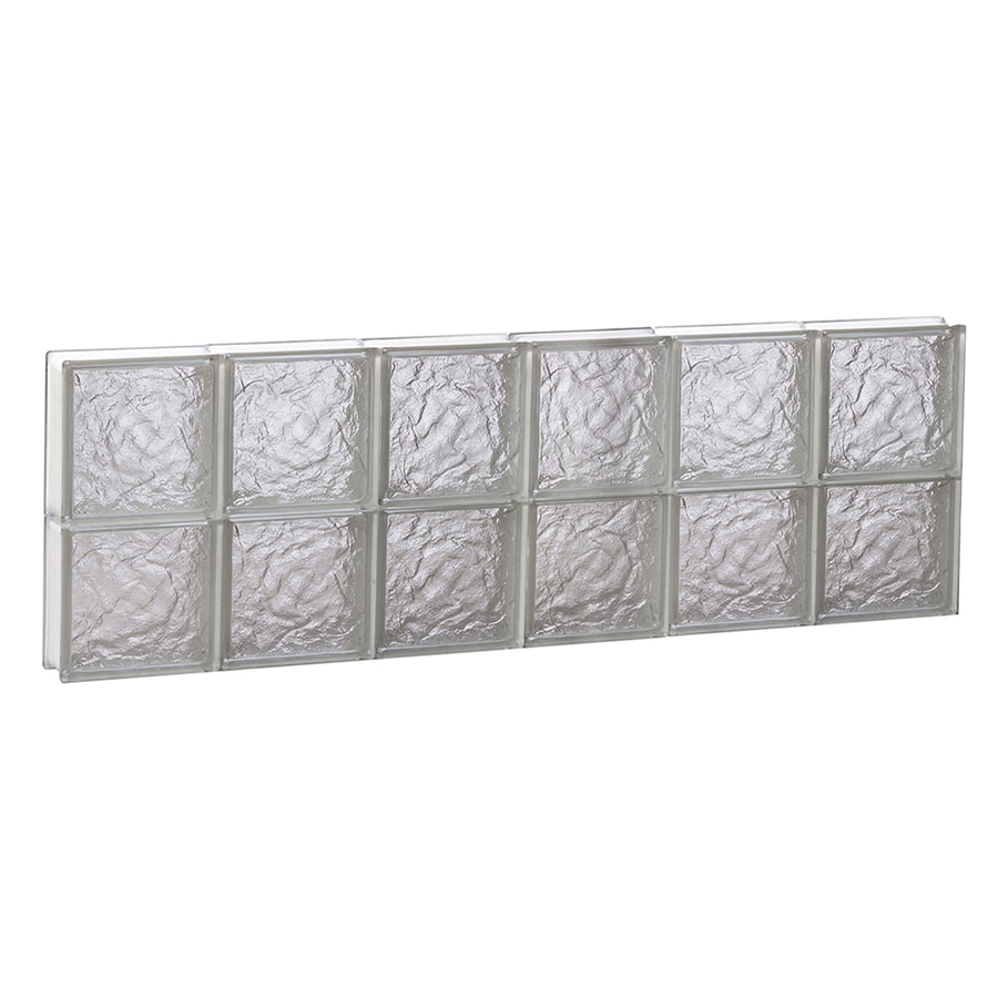 REDI2SET Ice Glass Pattern Frameless Replacement Glass Block Window (Rough Opening: 48-in x 16-in; Actual: 46.5-in x 15.5-in)